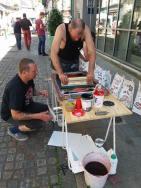 Atelier de sérigraphie dans la rue !