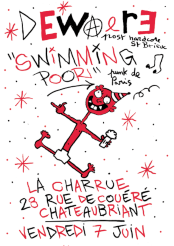 SWIMMING POOR + DEWAERE flyer Couleurs